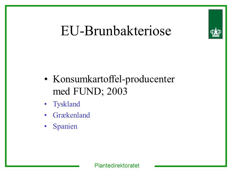 EU-Brunbakteriose Konsumkartoffel-producenter med FUND; 2003 Tyskland