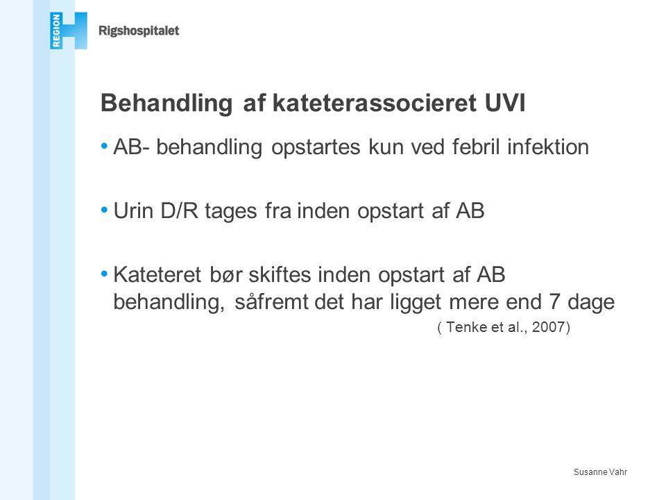 Behandling af kateterassocieret UVI