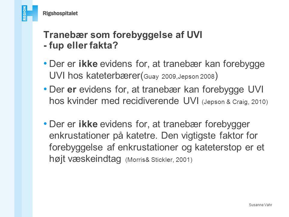 Tranebær som forebyggelse af UVI - fup eller fakta