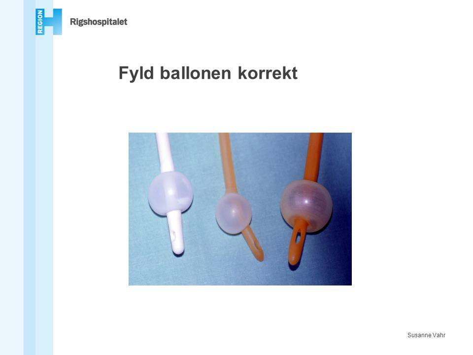 Fyld ballonen korrekt Susanne Vahr