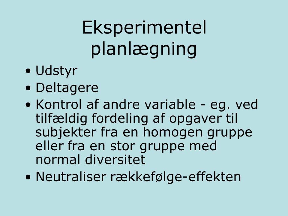 Eksperimentel planlægning