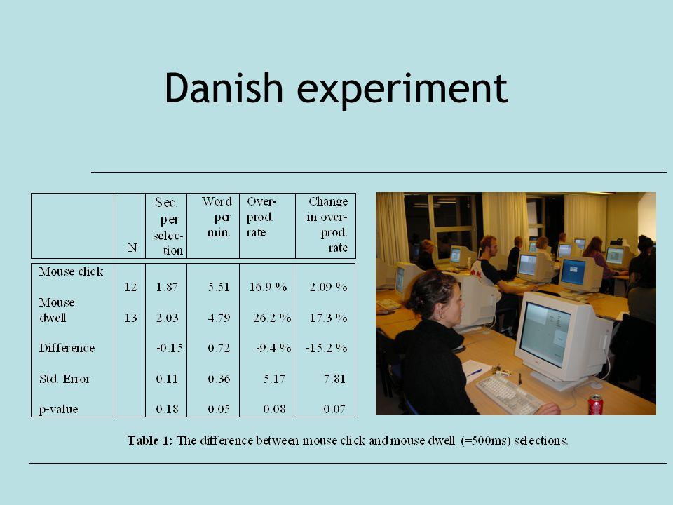 Danish experiment