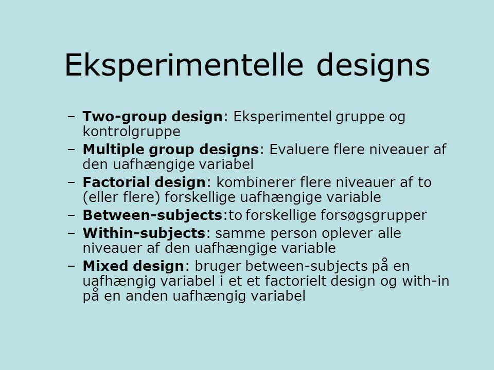 Eksperimentelle designs