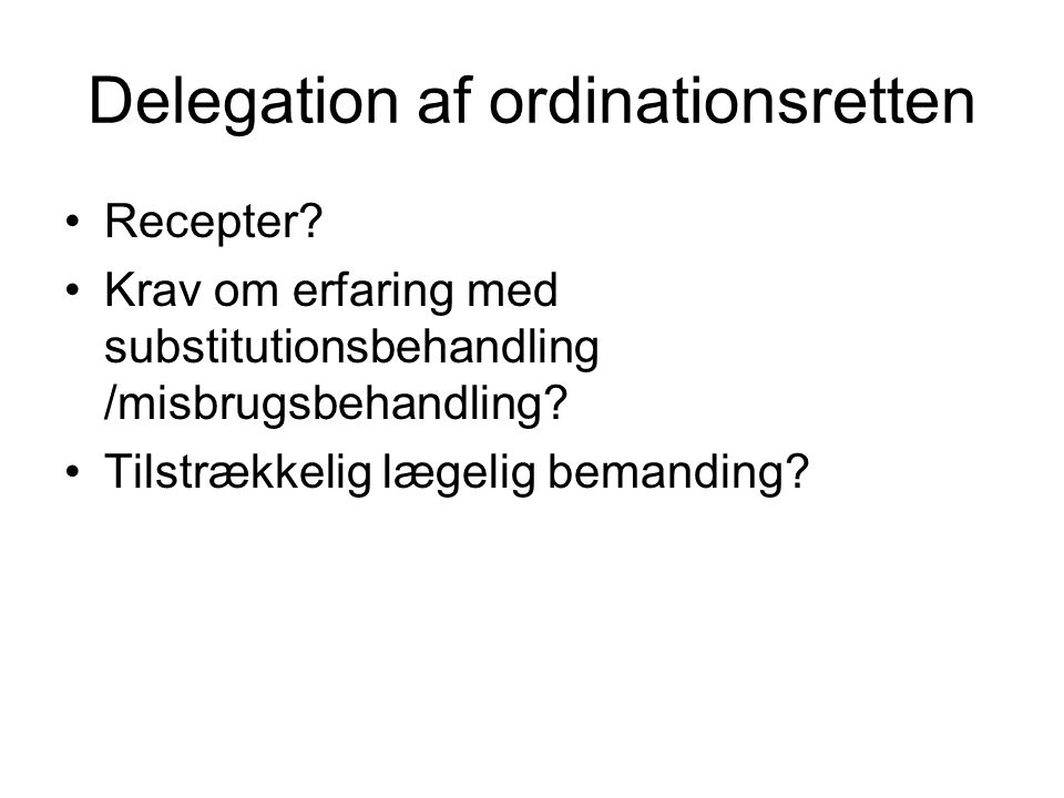 Delegation af ordinationsretten