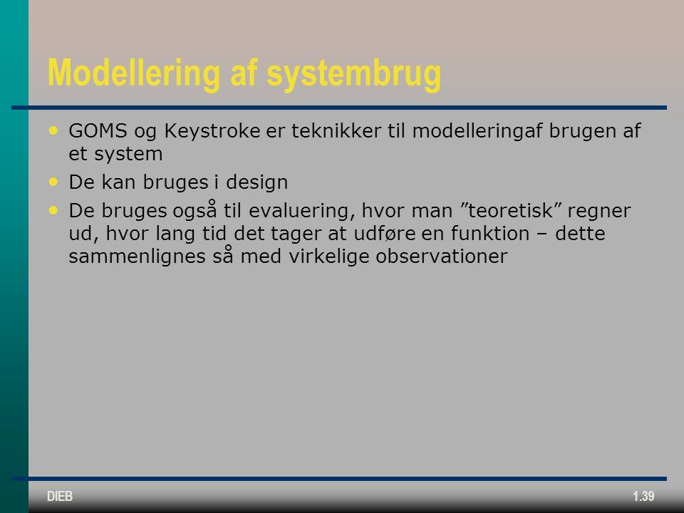 Modellering af systembrug
