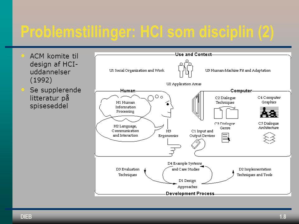 Problemstillinger: HCI som disciplin (2)