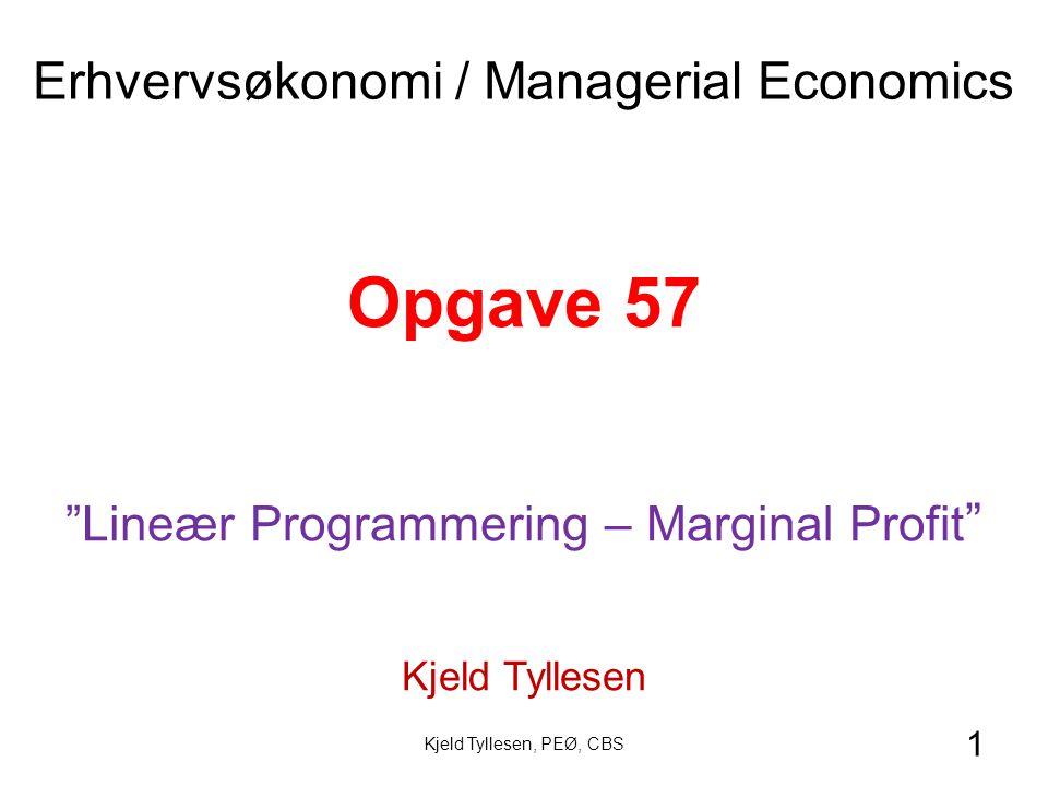 Opgave 57 Erhvervsøkonomi / Managerial Economics