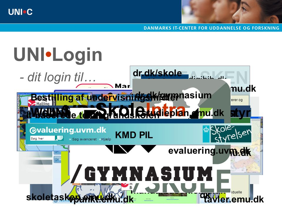 UNI•Login SkoleIntra VPN - HjemmePC person.emu.dk pakkepost.emu.dk