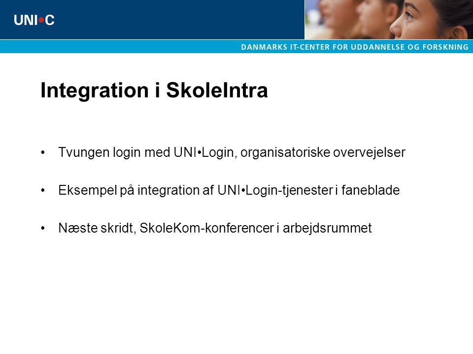 Integration i SkoleIntra