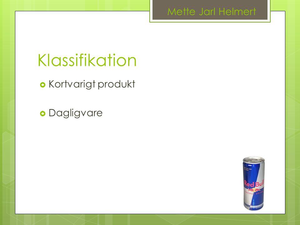 Mette Jarl Helmert Klassifikation Kortvarigt produkt Dagligvare