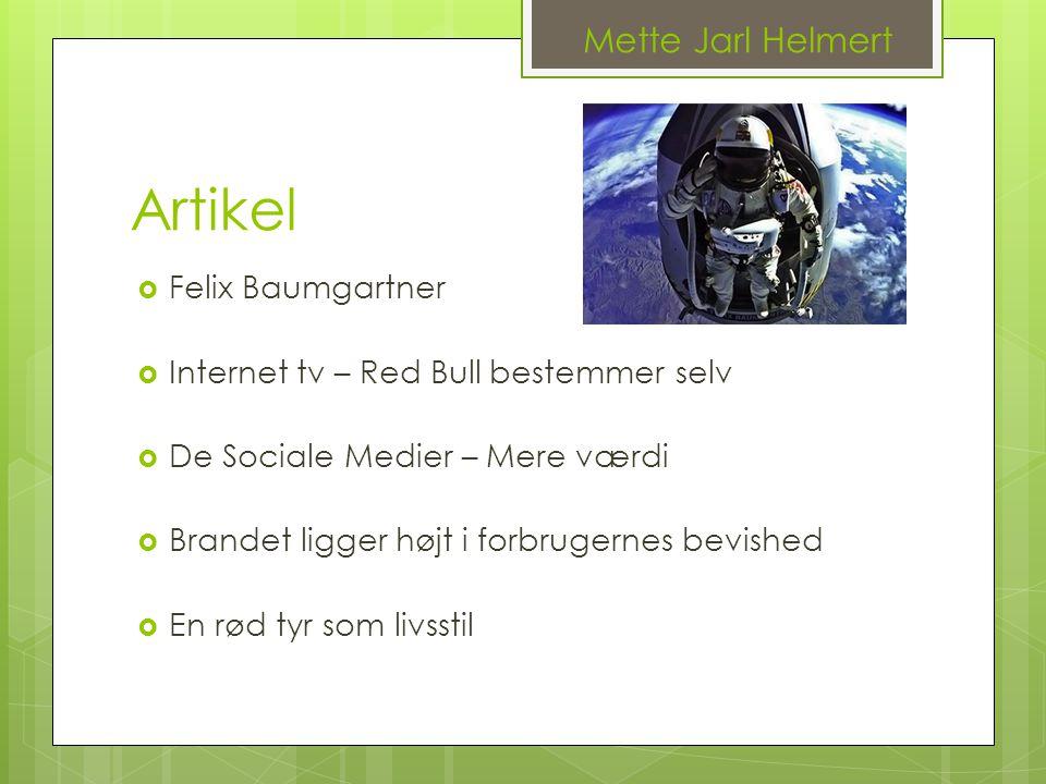 Artikel Mette Jarl Helmert Felix Baumgartner