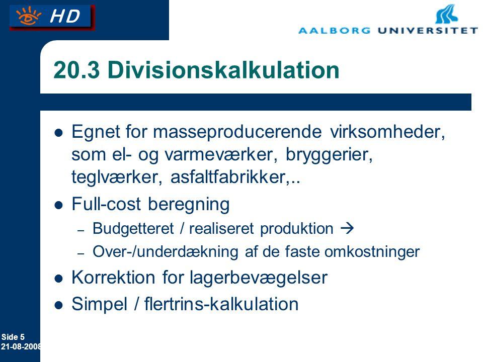 20.3 Divisionskalkulation