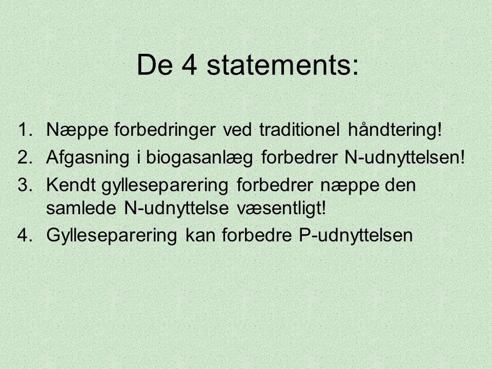 De 4 statements: Næppe forbedringer ved traditionel håndtering!