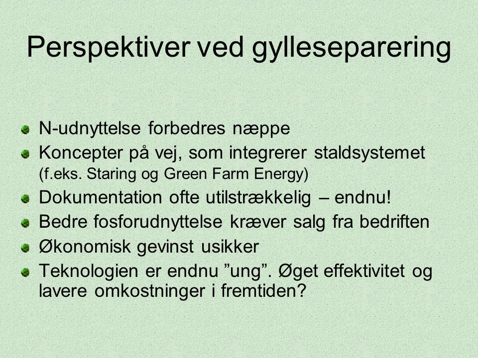 Perspektiver ved gylleseparering