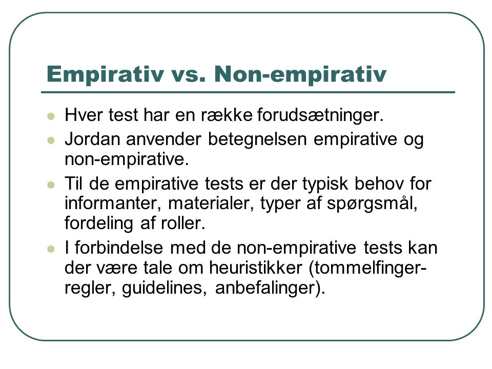 Empirativ vs. Non-empirativ