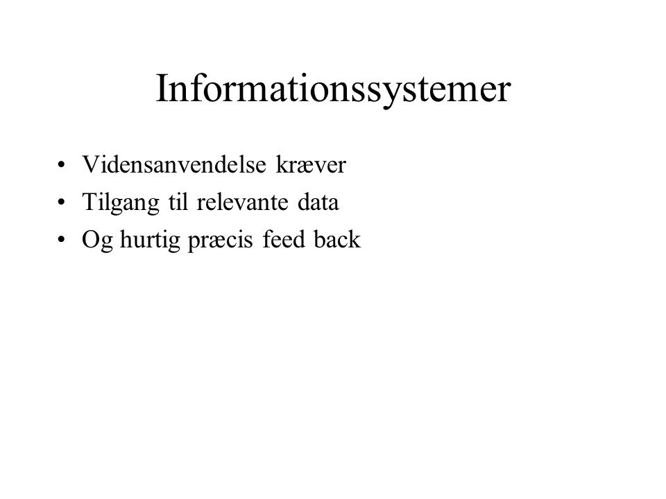 Informationssystemer