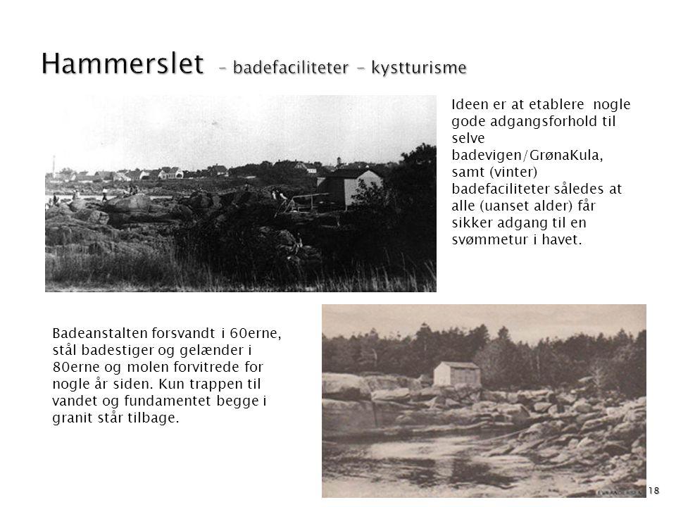 Hammerslet – badefaciliteter - kystturisme