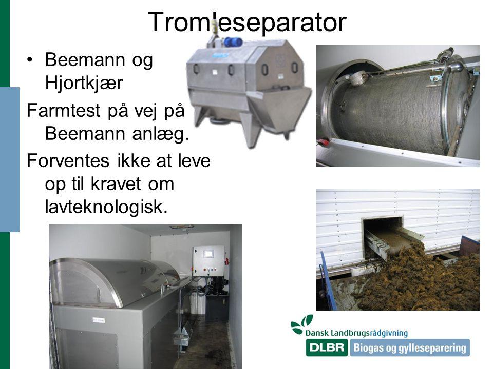 Tromleseparator Beemann og Hjortkjær Farmtest på vej på Beemann anlæg.