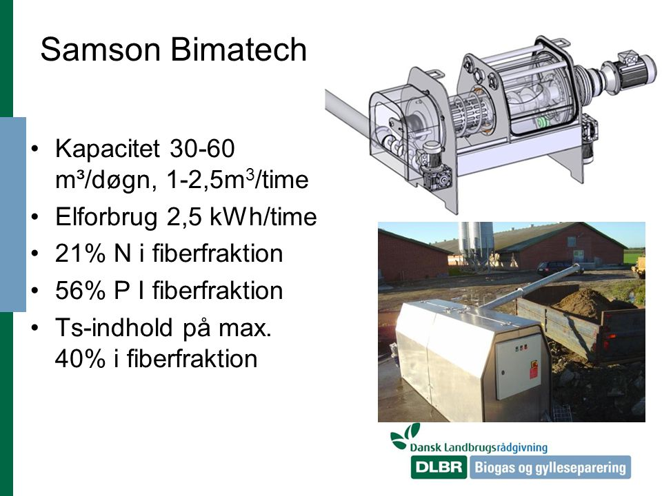 Samson Bimatech Kapacitet 30-60 m³/døgn, 1-2,5m3/time