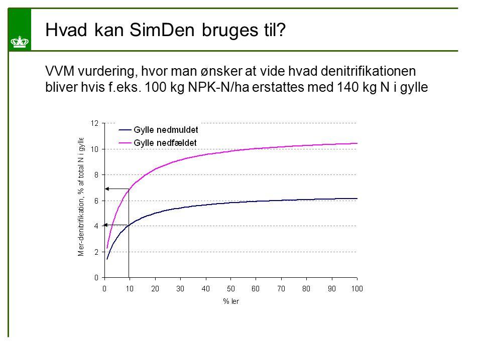 Hvad kan SimDen bruges til