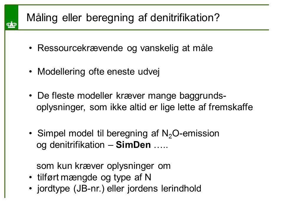 Måling eller beregning af denitrifikation