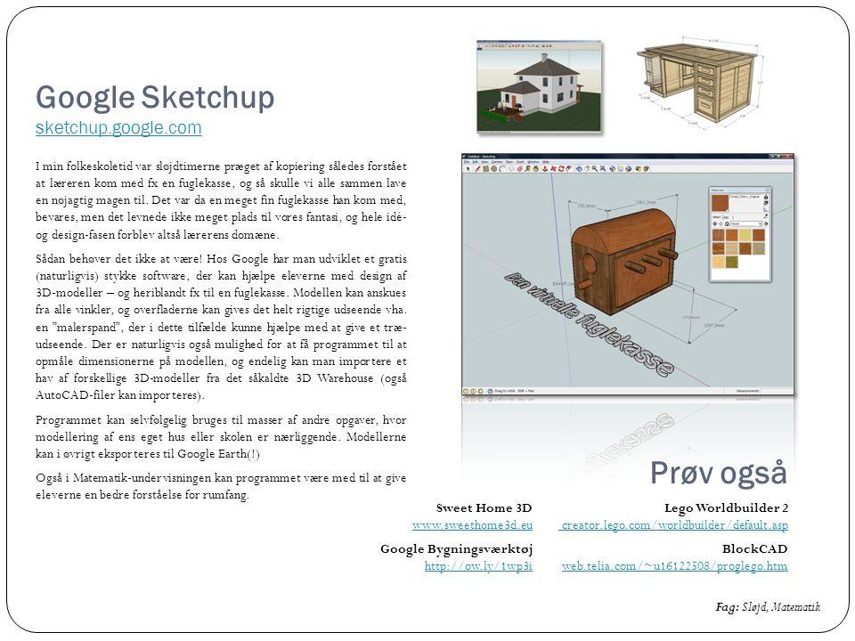 Google Sketchup sketchup.google.com