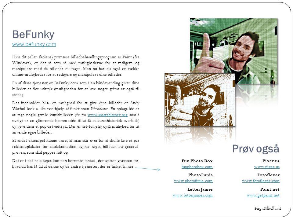 BeFunky www.befunky.com
