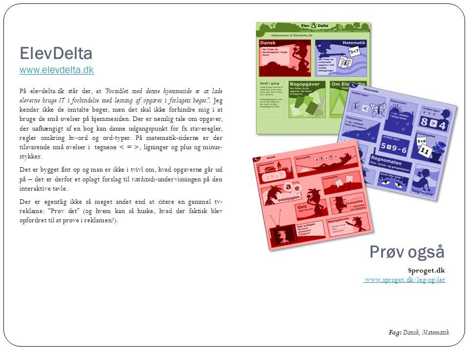 ElevDelta www.elevdelta.dk