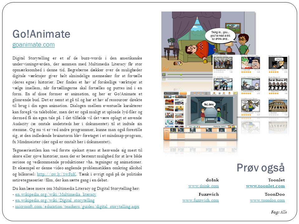 Go!Animate goanimate.com