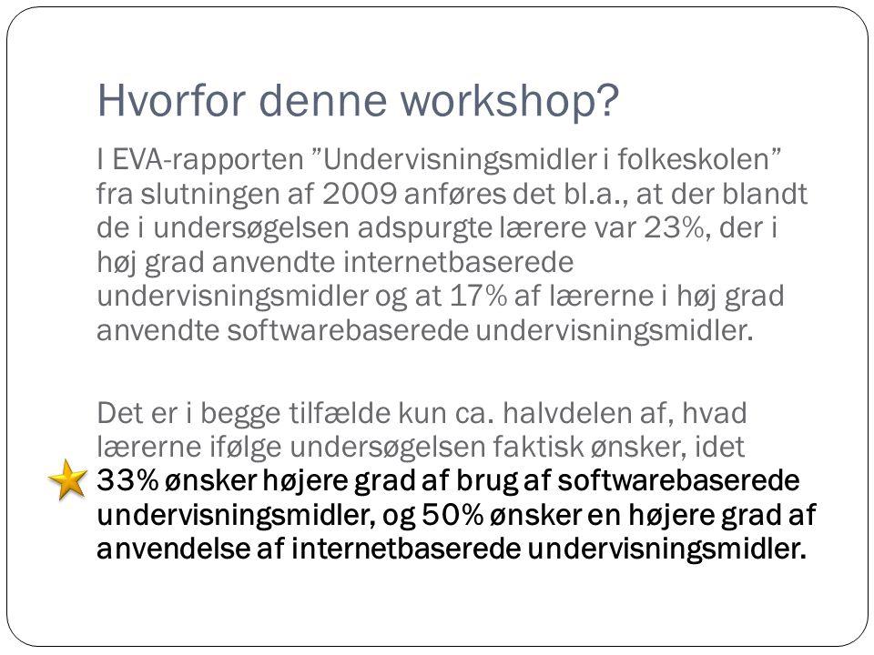 Hvorfor denne workshop