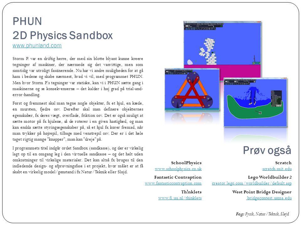 PHUN 2D Physics Sandbox www.phunland.com