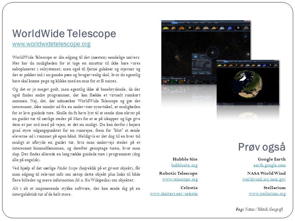 WorldWide Telescope www.worldwidetelescope.org