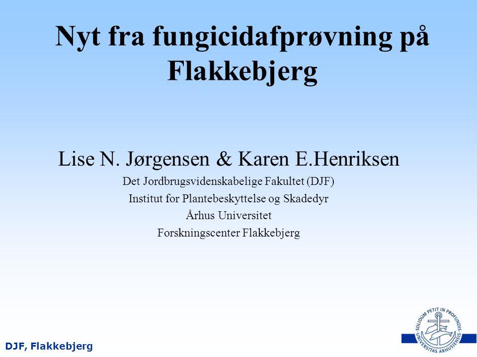 Nyt fra fungicidafprøvning på Flakkebjerg