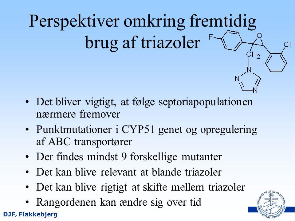 Perspektiver omkring fremtidig brug af triazoler