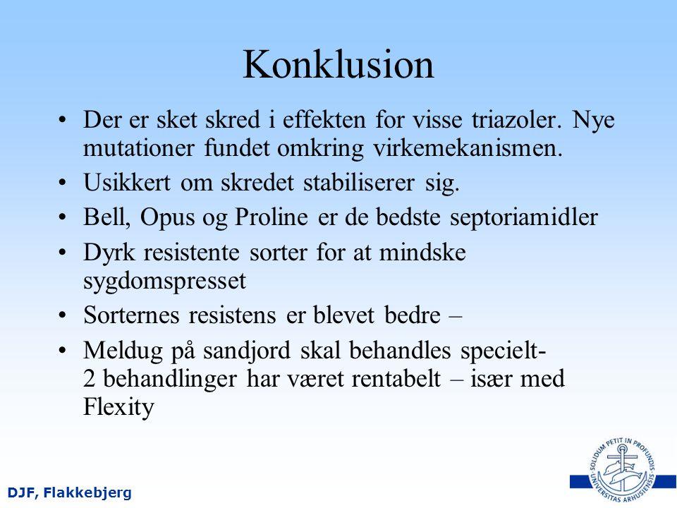 Konklusion Der er sket skred i effekten for visse triazoler. Nye mutationer fundet omkring virkemekanismen.