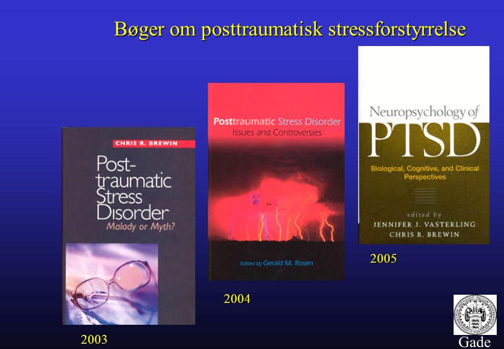 Bøger om posttraumatisk stressforstyrrelse