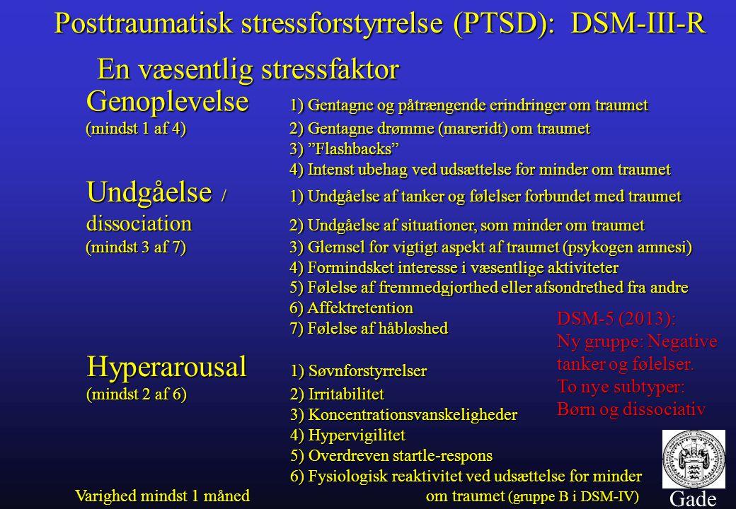 Posttraumatisk stressforstyrrelse (PTSD): DSM-III-R