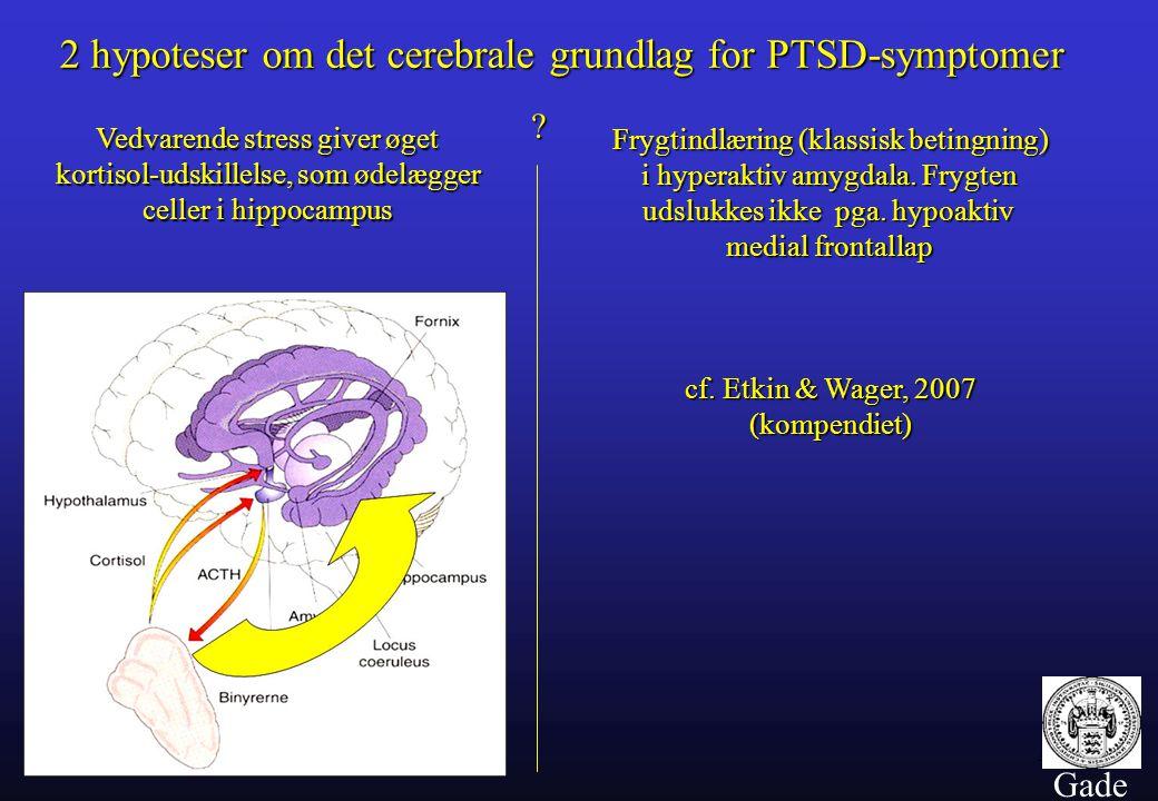 cf. Etkin & Wager, 2007 (kompendiet)