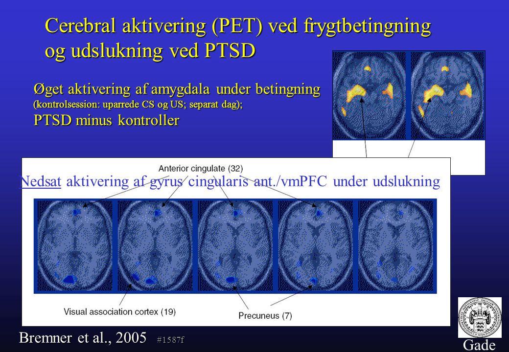 Cerebral aktivering (PET) ved frygtbetingning og udslukning ved PTSD
