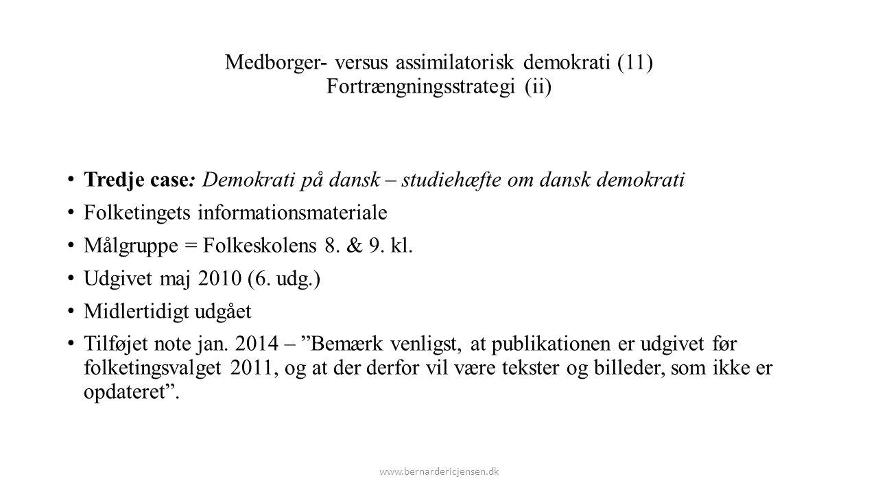 Tredje case: Demokrati på dansk – studiehæfte om dansk demokrati