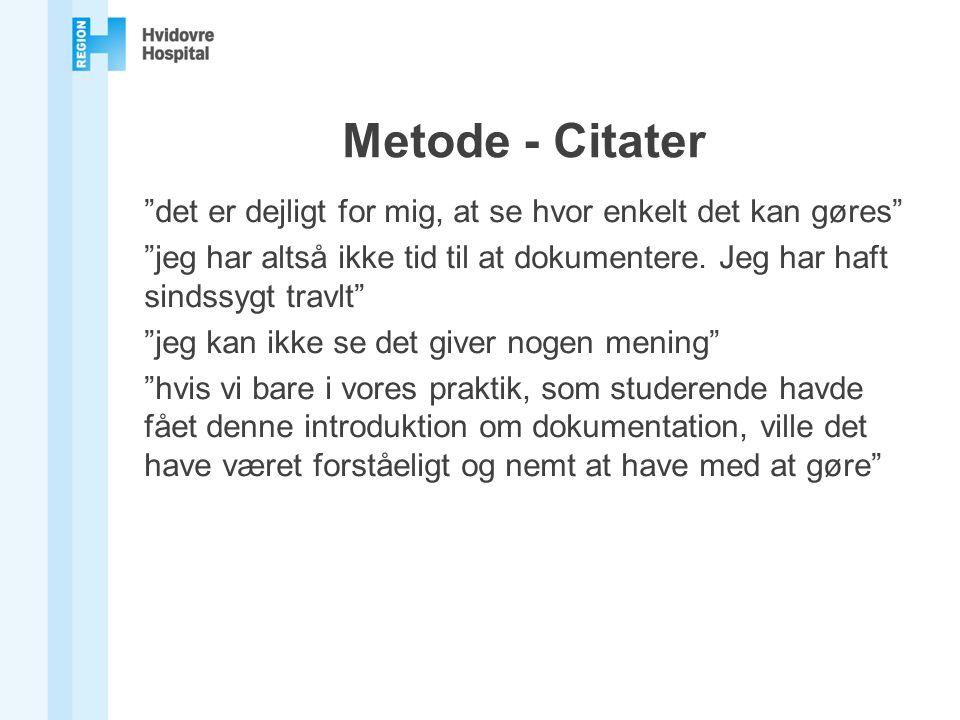 Metode - Citater