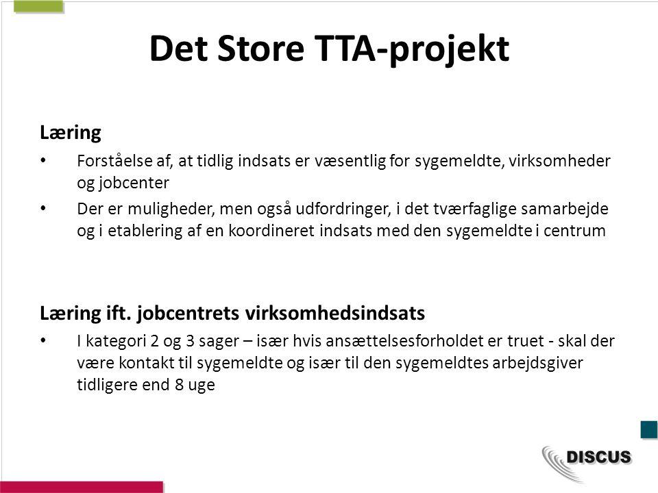 Det Store TTA-projekt Læring