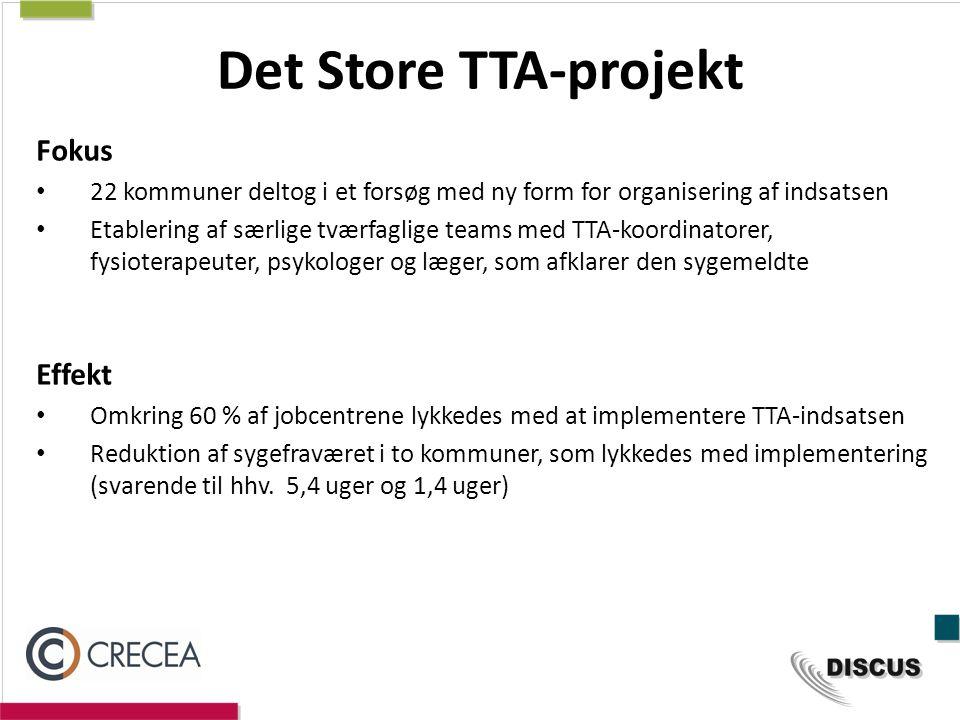Det Store TTA-projekt Fokus Effekt