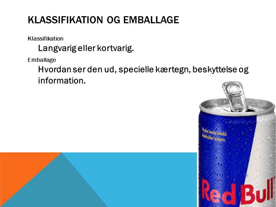 Klassifikation og emballage