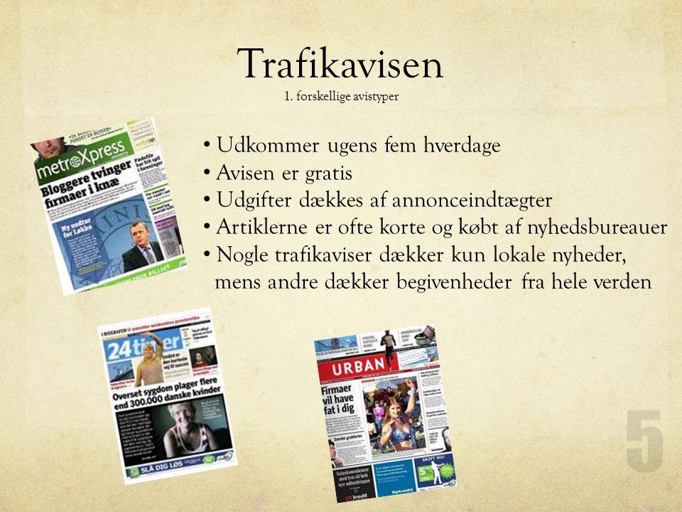 Trafikavisen 1. forskellige avistyper