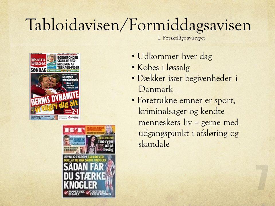 1. Forskellige avistyper