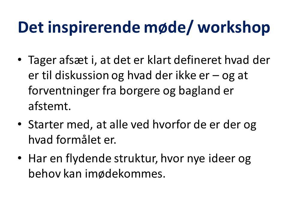 Det inspirerende møde/ workshop