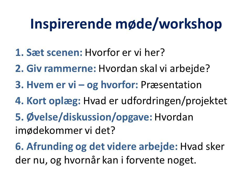 Inspirerende møde/workshop