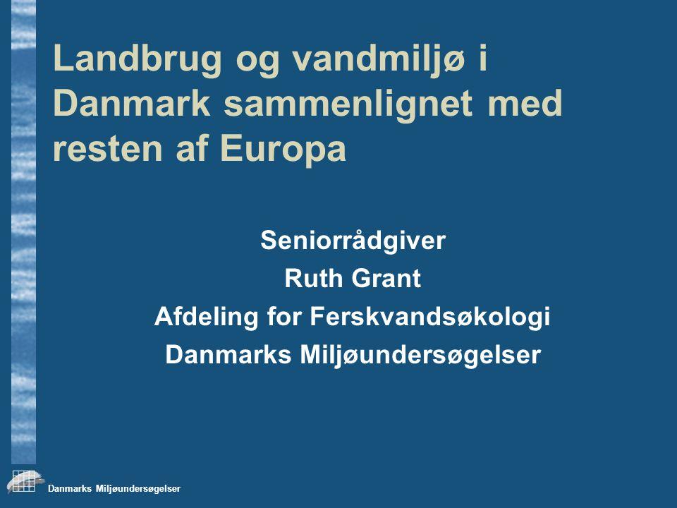 Afdeling for Ferskvandsøkologi Danmarks Miljøundersøgelser