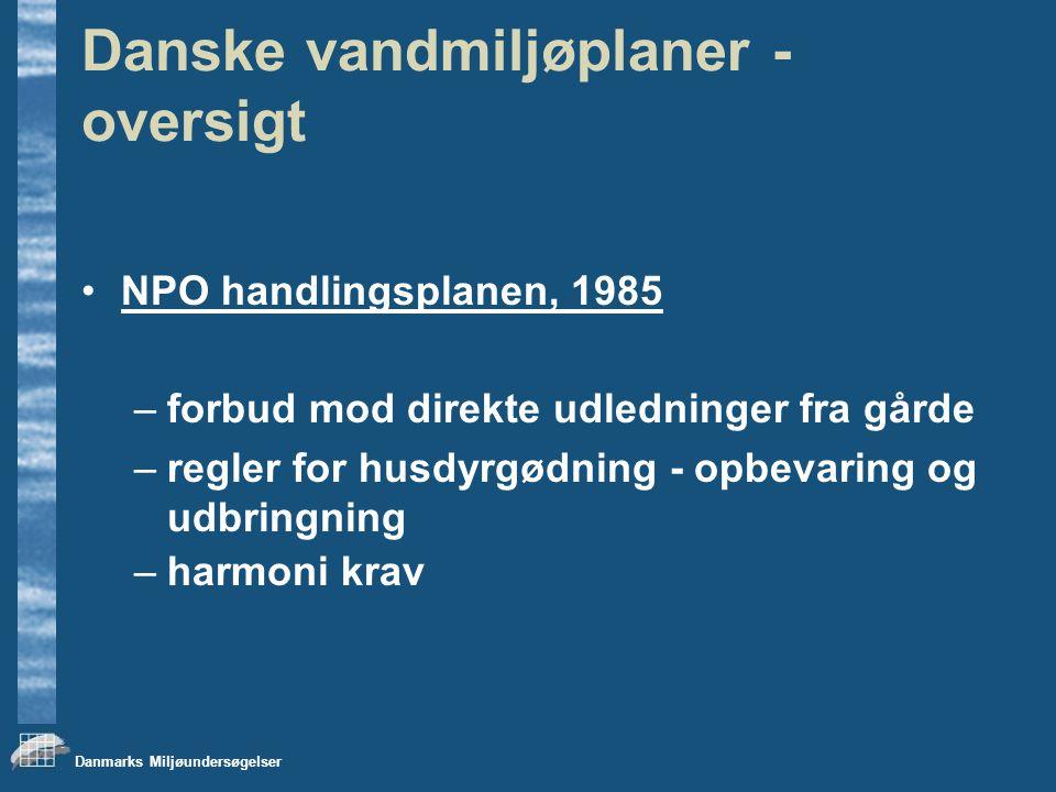 Danske vandmiljøplaner - oversigt